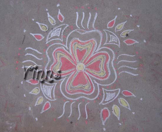 Simple Flower Kolam Vinns Kolam