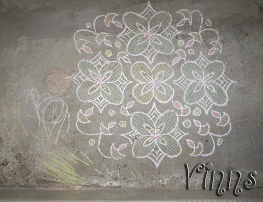 Deepam Flower Lamps kolam