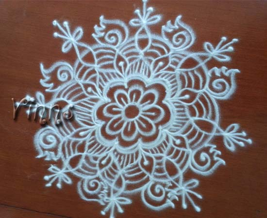 Simple Kolam without dots