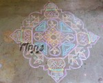 Pongal kolam with 25 Dots