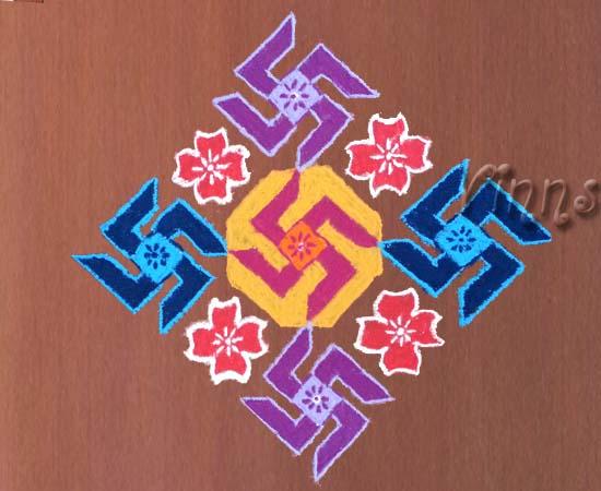 muggulu, swastika, rangavalli, rangavallika,