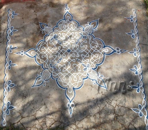 tippudu muggulu, border, rangoli, pulli kolangal, rangavallika, kolam with dots, small kolam, simple kolam
