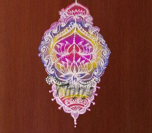 chandelier pattern, rangoli