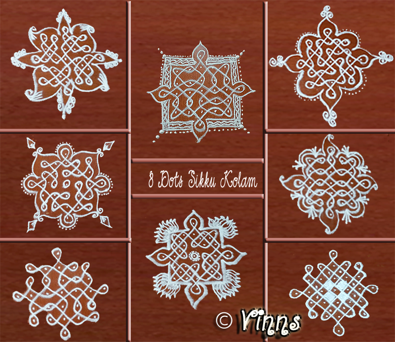 collection of 7 dots sikku kolam small kolams for daily vinns kolam