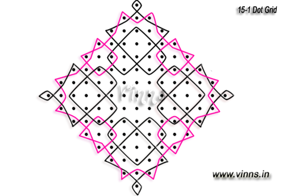 15_dots_sikku_kolam_muggulu