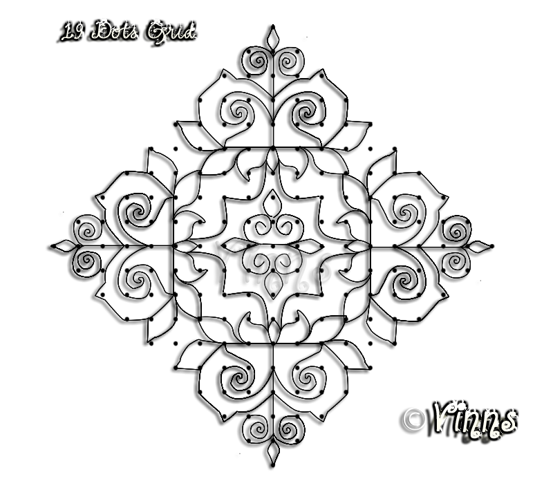 19_dots_lotus_kolam_muggulu