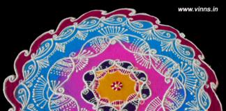 `mango design, peacock, muggulu,