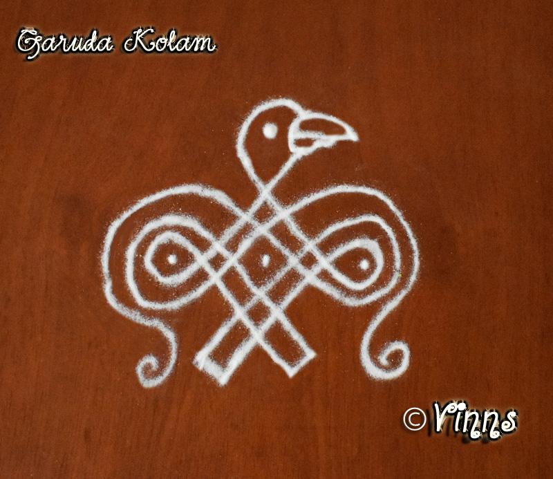 Garuda Kolam || Garuda Gayanthri Mantra || Garuda Rangoli -1