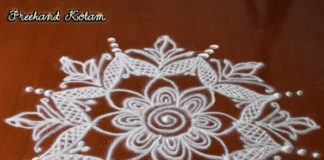 Small Freehand Kolam || Chukkaleni Muggulu || Rangoli in White