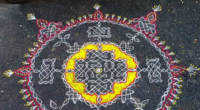New design, new year kolam