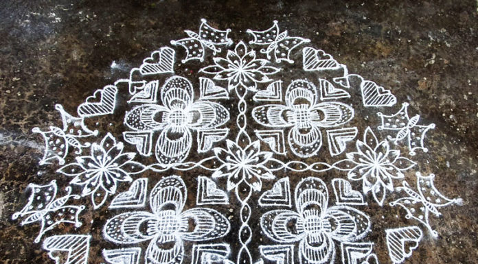 butterfly, muggulu, rangoli, new design